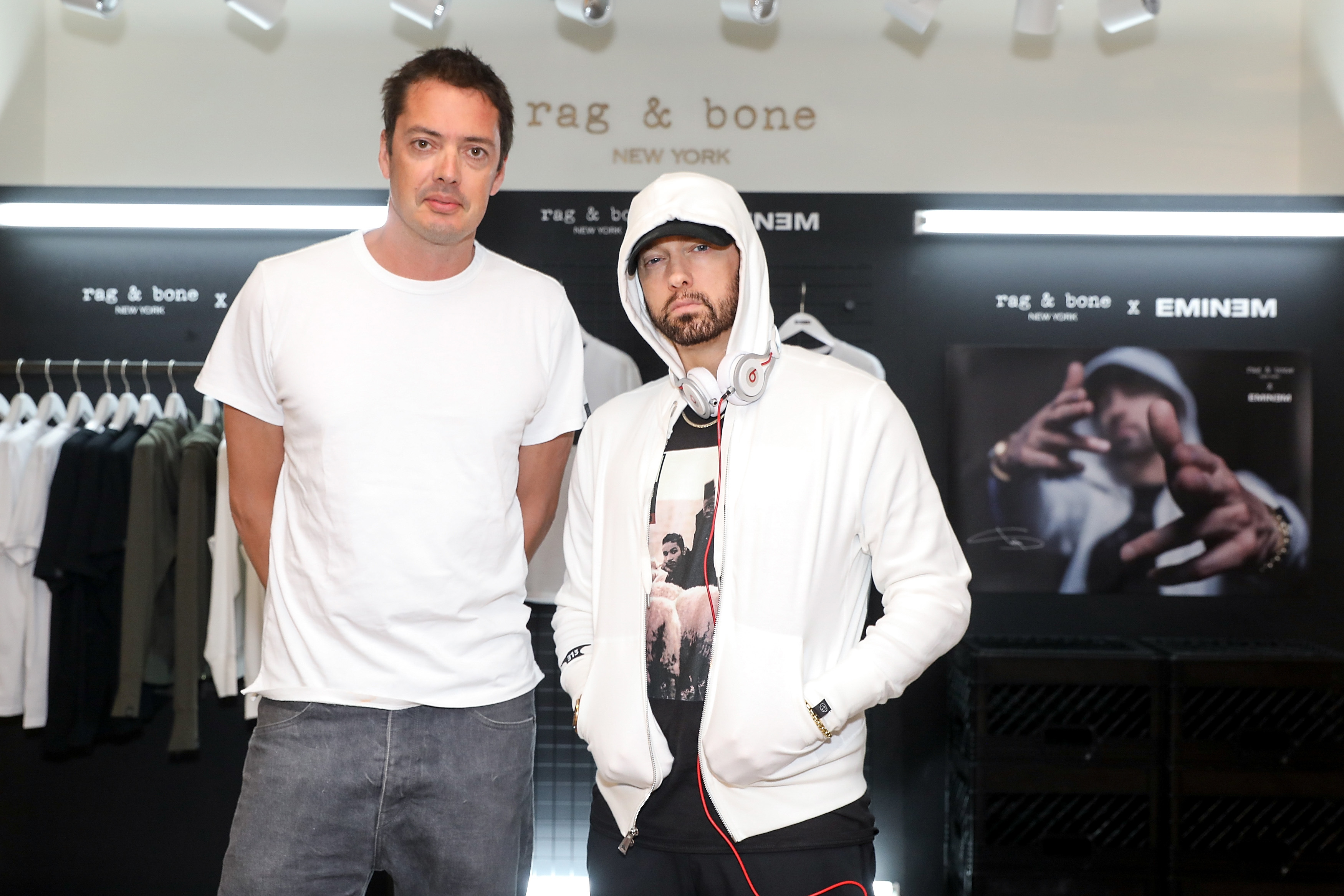 4b6396efd3453 Eminem Teams With rag   bone For Clothing Collaboration And London Pop-Up  Shop.